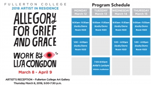 Thumbnail for Allegory for Grief and Grace, Work by Lisa Congdon - March 2018 - Fullerton College Fine Arts Division